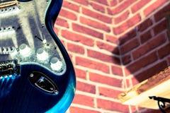 Zamyka w górę gitary elektrycznej Obraz Royalty Free