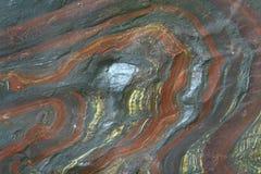 Zamyka w górę hematile, kopalina w kamieniu Obrazy Stock