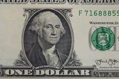 zamyka w górę jeden dolarowego rachunku Fotografia Royalty Free