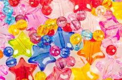 Zamyka w górę Kolorowych koralików szklanych Zdjęcia Royalty Free
