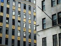 Zamyka w górę korporacyjnych budynków okno Obraz Stock