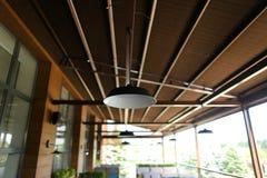 Zamyka w górę lampy i kawiarni w bacground Obraz Royalty Free