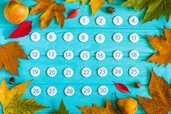 Zamyka w górę Listopadu 2017 kalendarza Zdjęcie Stock