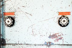 Zamyka w górę Nieociosanego pulpitu operatora stara maszyna, grunge przedmiot Fotografia Royalty Free