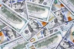 Zamyka w górę obrazka sto dolarowi rachunki Zdjęcia Royalty Free