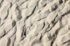 Zamyka w górę odcisku stopy w piasku Fotografia Stock