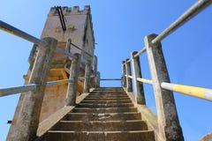 Zamyka w górę outdoors widoku stary kamienny schody Obraz Stock