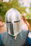 Zamyka w górę portreta wojownika rycerza uczestnik Zdjęcia Stock