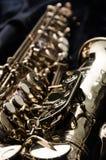 Zamyka w górę saksofonu Obrazy Royalty Free