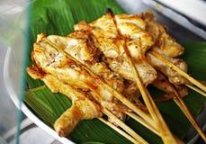 Zamyka w górę tajlandzkiego kurczaka grilla Fotografia Stock