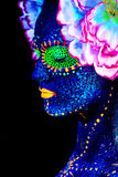 Zamyka w górę ULTRAFIOLETOWEGO portreta Obrazy Royalty Free