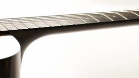Zamyka w górę widok gitary akustycznej dolly ruchu zbiory