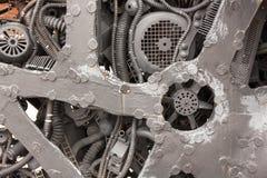 Zamyka w górę widoku elektrycznego silnika starych elementów Zdjęcie Stock
