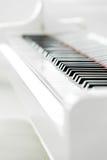 Zamyka w górę widoku fortepianowa klawiatura Obraz Stock