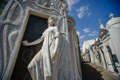 Zamyka w górę widoku grobowiec Rufina Cambaceres Obraz Stock