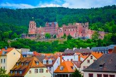 Zamyka w górę widoku Heidelberg kasztel w Niemcy Obrazy Royalty Free