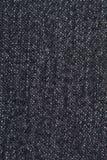 Zamyka W górę Czarnych Cajgowych tkaniny tekstury wzorów Obraz Stock