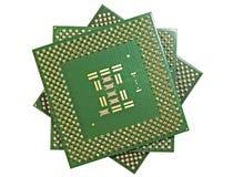 Zamyka widok JEDNOSTKA CENTRALNA procesory (frontowy widok) Obrazy Stock
