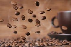 zamykają się ziarna kawy Obraz Stock