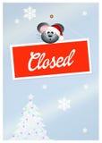 Zamykający dla wakacji Zdjęcia Stock