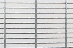 Zamykający up BRC typ ogrodzenie projekt z białym tłem Obrazy Stock