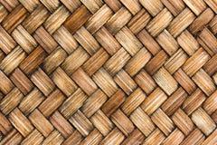 Zamykający w górę brown drewnianego łozinowego tekstury tła Obrazy Royalty Free