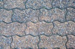 Zamykający w górę ceglanej tekstury na drogowej podłoga Obraz Stock