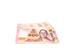 Zamykający w górę Tajlandzkiego rachunku sto bahtów Obraz Stock