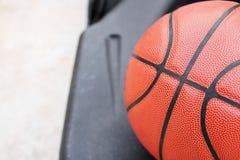 Zamykający w górę widoku basketbal plenerowy Obrazy Royalty Free