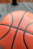 Zamykający w górę widoku basketbal plenerowy Zdjęcia Royalty Free