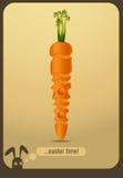 Zanahoria adornada - tiempo de pascua stock de ilustración