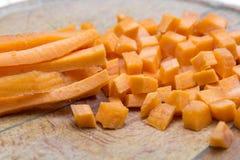 Zanahoria cortada Foto de archivo libre de regalías