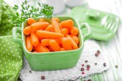 Zanahoria de bebé Imágenes de archivo libres de regalías