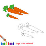 Zanahoria de la historieta que se coloreará Foto de archivo libre de regalías