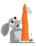 Zanahoria de los animales del conejito Fotos de archivo