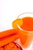 Zanahoria del jugo fotos de archivo