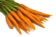 Zanahoria en el fondo blanco Fotos de archivo