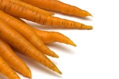Zanahoria en el fondo blanco Fotografía de archivo libre de regalías