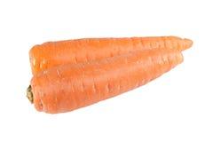 Zanahoria en el fondo blanco Imagen de archivo libre de regalías