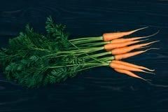 Zanahoria joven El cocinar con las verduras frescas Imagenes de archivo