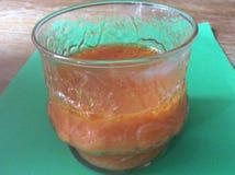 Zanahoria-jugo orgánico Foto de archivo