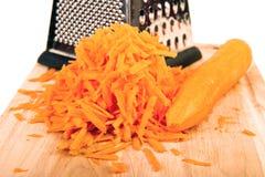 Zanahoria rallada Fotos de archivo libres de regalías