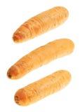 Zanahoria sin pelar aislada Imagenes de archivo