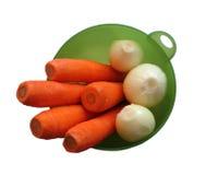 Zanahoria y cebolla Imágenes de archivo libres de regalías