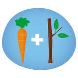 Zanahoria y palillo - ilustración de la motivación del vector Fotos de archivo libres de regalías