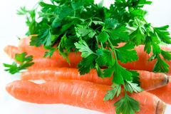 Zanahoria y perejil Imagen de archivo