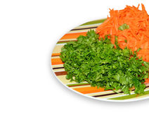 Zanahoria y perejil Fotografía de archivo libre de regalías