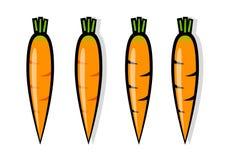 Zanahorias anaranjadas Foto de archivo libre de regalías