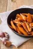 Zanahorias asadas imagen de archivo libre de regalías