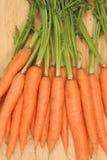 Zanahorias a bordo Imágenes de archivo libres de regalías